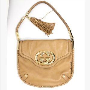 Gucci Britt Leather Tassel Flap Bag